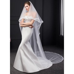 Two-tier Ribbon Edge Chapel Bridal Veils (006150917)
