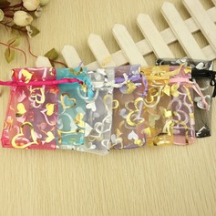 Heart style Favor Bags With Ribbons  (050032578)