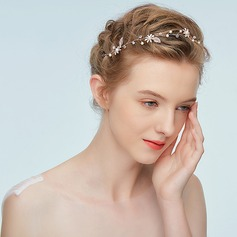 Ladies Beautiful Alloy Headbands With Rhinestone/Venetian Pearl (Sold in single piece)