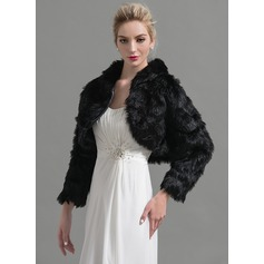 Long Sleeve Faux Fur Wedding Wrap