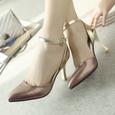 Women's Leatherette Stiletto Heel Sandals With Buckle shoes (087114489)