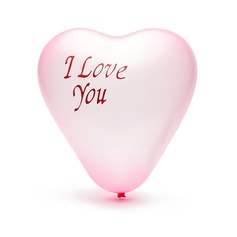 """""""I Love You"""" Balloon (set of 100) (More Colors)"""
