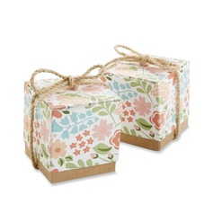 Smiling Flower Cubic Favor Boxes (Set of 12)