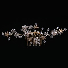 Ladies Fashion Rhinestone/Alloy/Imitation Pearls Combs & Barrettes