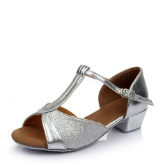 Kids' Sparkling Glitter Flats Latin Dance Shoes