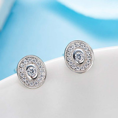 Ladies' Classic Crystal/Zircon/925 Sterling Silver Crystal/Cubic Zirconia Earrings For Bride/For Bridesmaid/For Mother
