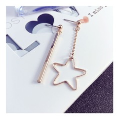 Lovely Gold Plated Copper With Gold Plated Women's Fashion Earrings