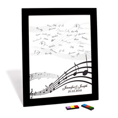 """Personalized """"Happy Melody"""" Canvas Signature Platter"""