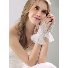 Nylon Wrist Length Bridal Gloves (014118010)