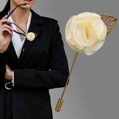 Romantic Satin Boutonniere (Sold in a single piece) - (123182807)
