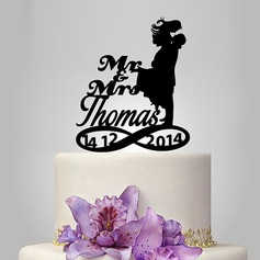Personalized Classic Couple Acrylic Cake Topper (119118746)