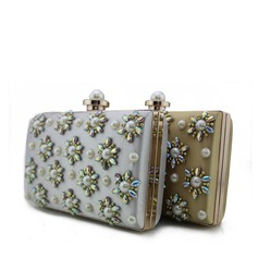 Unique Silk/Pearl/Composites Clutches/Bridal Purse