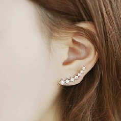 Brillant Alliage/Pearl/Strass Dames Boucles d'oreilles