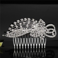 Ladies Unique Alloy Combs & Barrettes With Rhinestone (Sold in single piece)