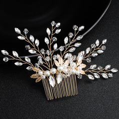 Ladies Rhinestone/Imitation Pearls Combs & Barrettes (Sold in single piece)
