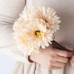 Fancy Round Silk Flower Bridesmaid Bouquets -