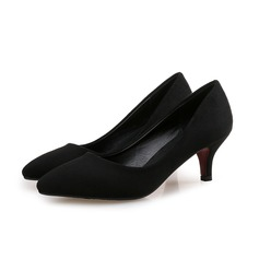Kvinnor Mocka Stilettklack Pumps skor (085102228)