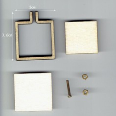 Wooden mini square cross stitch fixed frame