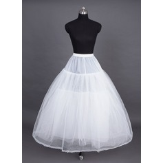 Women Nylon/Tulle Netting Tea-length 4 Tiers Petticoats (037023566)