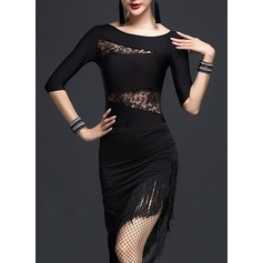 Women's Dancewear Lace Latin Dance Dresses