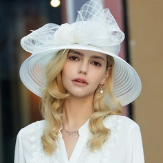 Ladies' Exquisite/Fancy/Vintage Polyester With Tulle Floppy Hat