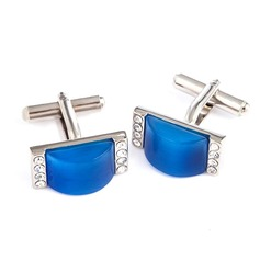 Classic Simple Zircon Cufflink (Set of 2)