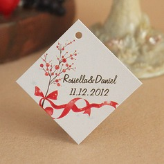 """Personalized """"Red Bowknot"""" Hard Card Paper"""