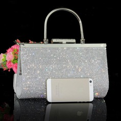 Charming Crystal/ Rhinestone/Polyester Clutches/Wristlets (012096152)