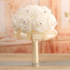 Gorgeous Round Satin Bridal Bouquets -
