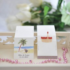 Personalized Palm Trees Hard Card Paper Matchboxes (Set of 50)