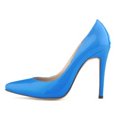 Women's Patent Leather Stiletto Heel Pumps Closed Toe shoes (085059011)