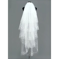 Six-tier Waltz Bridal Veils With Cut Edge