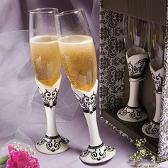 Elegant Lead-free Glass Toasting Flutes (Set Of 2) (126032340)