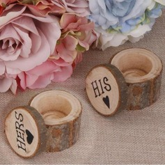 """HIS & HERS""/Shabby Rustic Wood Favor Boxes & Containers/Gift Box (Set of 2 Pairs)"