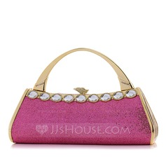 Fashional PU With Acrylic Jewels Wristlets/Fashion Handbags