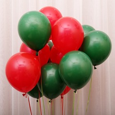 10inch 50pcs Red and Green Mixed Color Christmas Balloons (Set of 50) Gifts