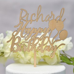 Personalized Happy Birthday Acrylic Cake Topper (Sold in a single piece)