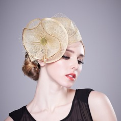 Ladies' Gorgeous/Glamourous Linen With Flower Fascinators