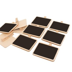 Simple Practical Wooden Clip/Blackboard