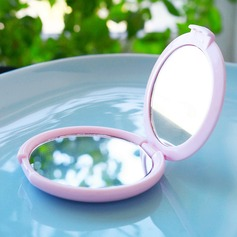 Something Pink Mirror Compact in Elegant Organza Pouch
