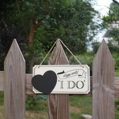"""I Do"" De madeira wedding Registe- (conjunto de 2)"