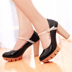 Women's Leatherette Chunky Heel Sandals Platform shoes