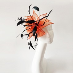 Ladies' Exquisite Feather/Net Yarn With Feather Fascinators