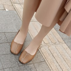 Women's PU Low Heel Closed Toe With Others shoes