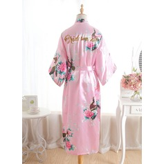 Silk Bridesmaid Glitter Print Robes
