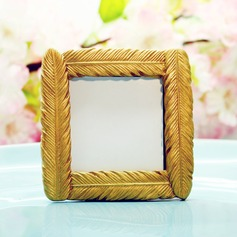 Gold Feather Square Frame (Sold in a single piece)