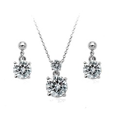 Elegant Alloy/Cubic Zirconia Ladies' Jewelry Sets