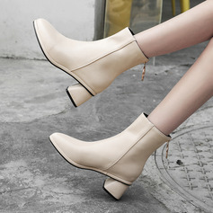 Leatherette Cone Heel Wedges Slippers Riding Boots With Zipper shoes