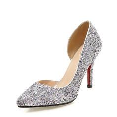 Kvinnor Glittrande Glitter Stilettklack Pumps Stängt Toe med Andra skor