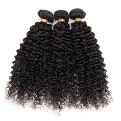 4A Non remy Kinky Curly Human Hair Human Hair Weave (Sold in a single piece) 50g (235145898)